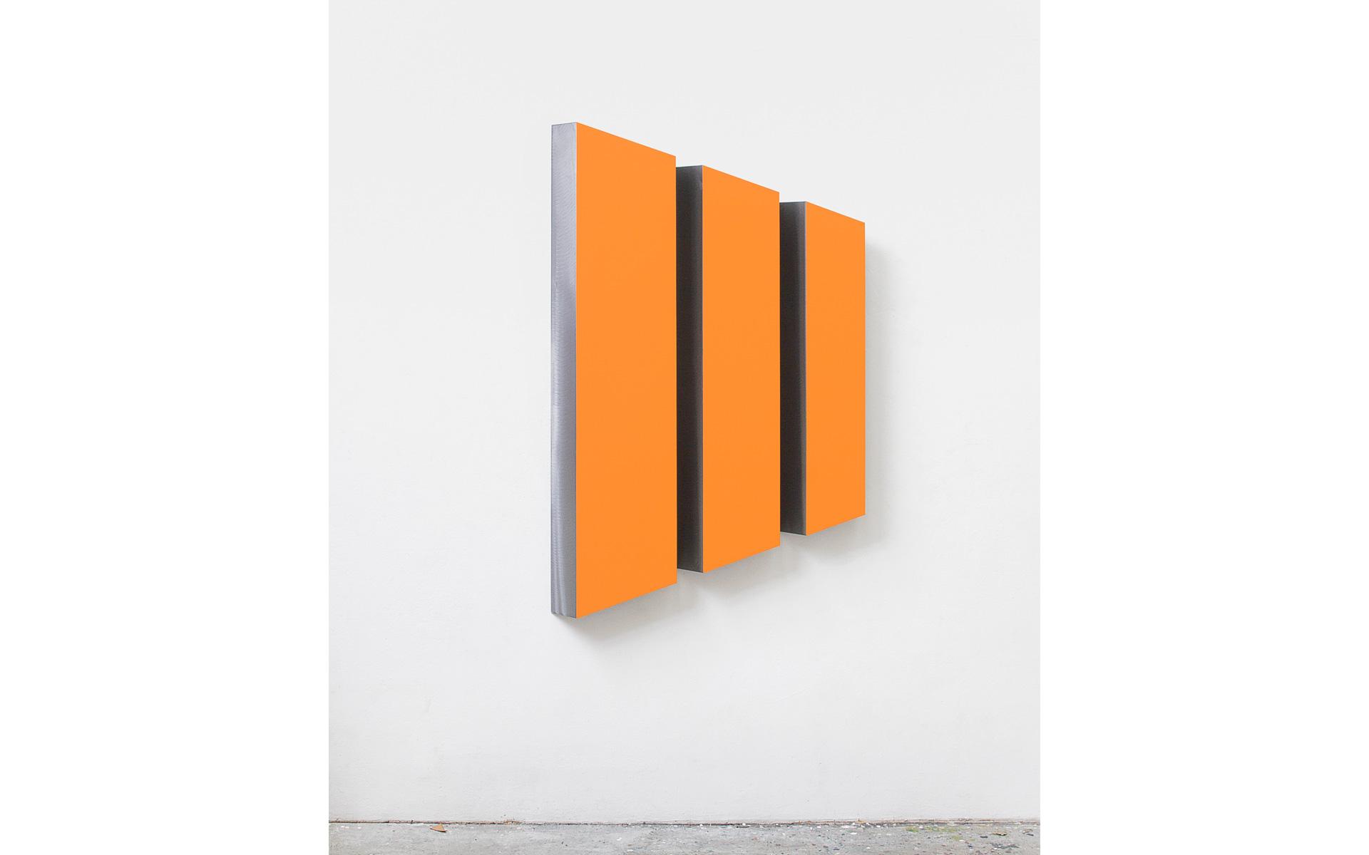 PASSEO, three parts, 2008 Acrylic on steel 150.3 × 95.5 × 8.5 cm - Photo: Christoph Valentien