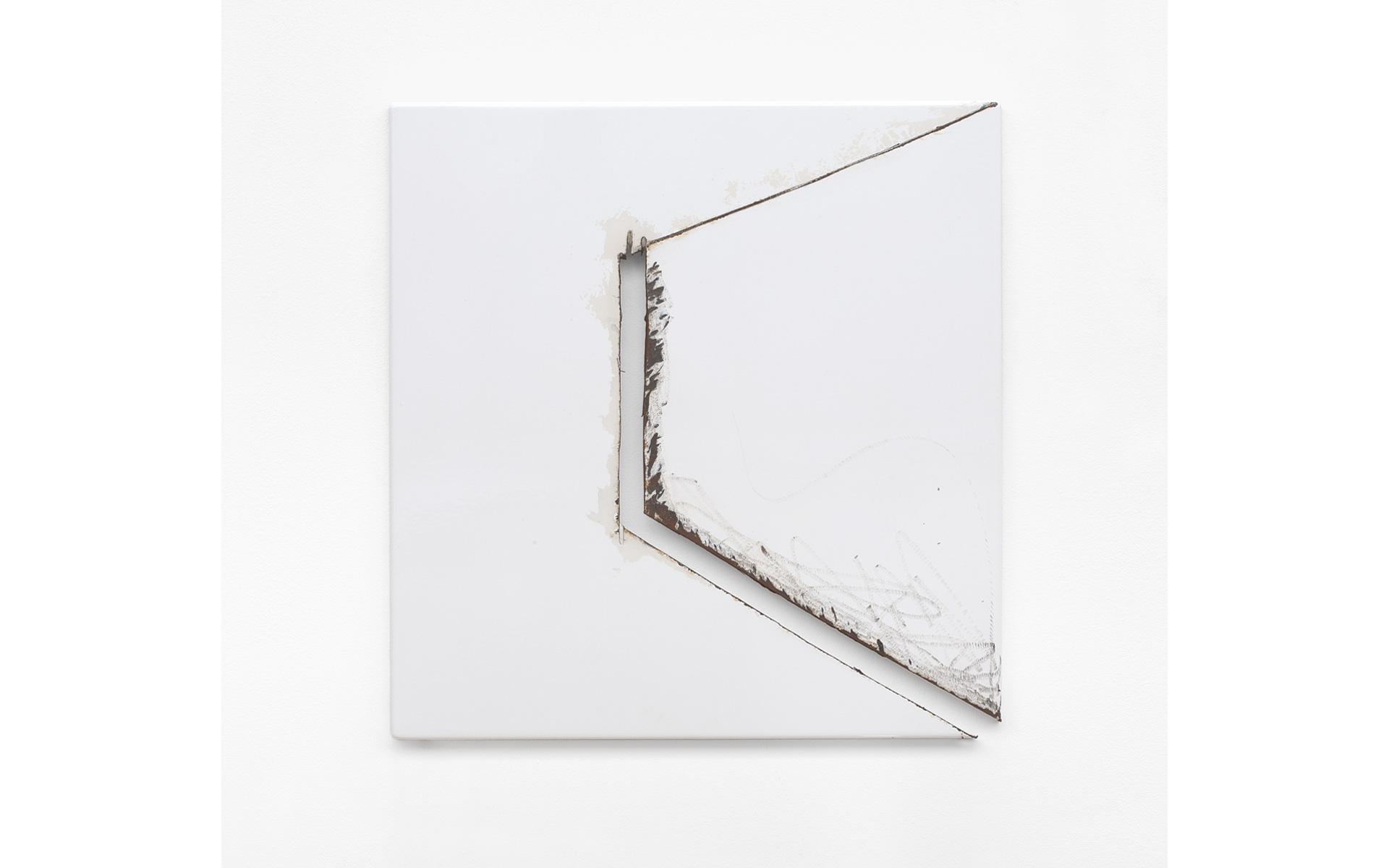 O. T., 1985 Steel enameled 56.2 × 53.7 × 2.5 cm - Photo: Christoph Valentien