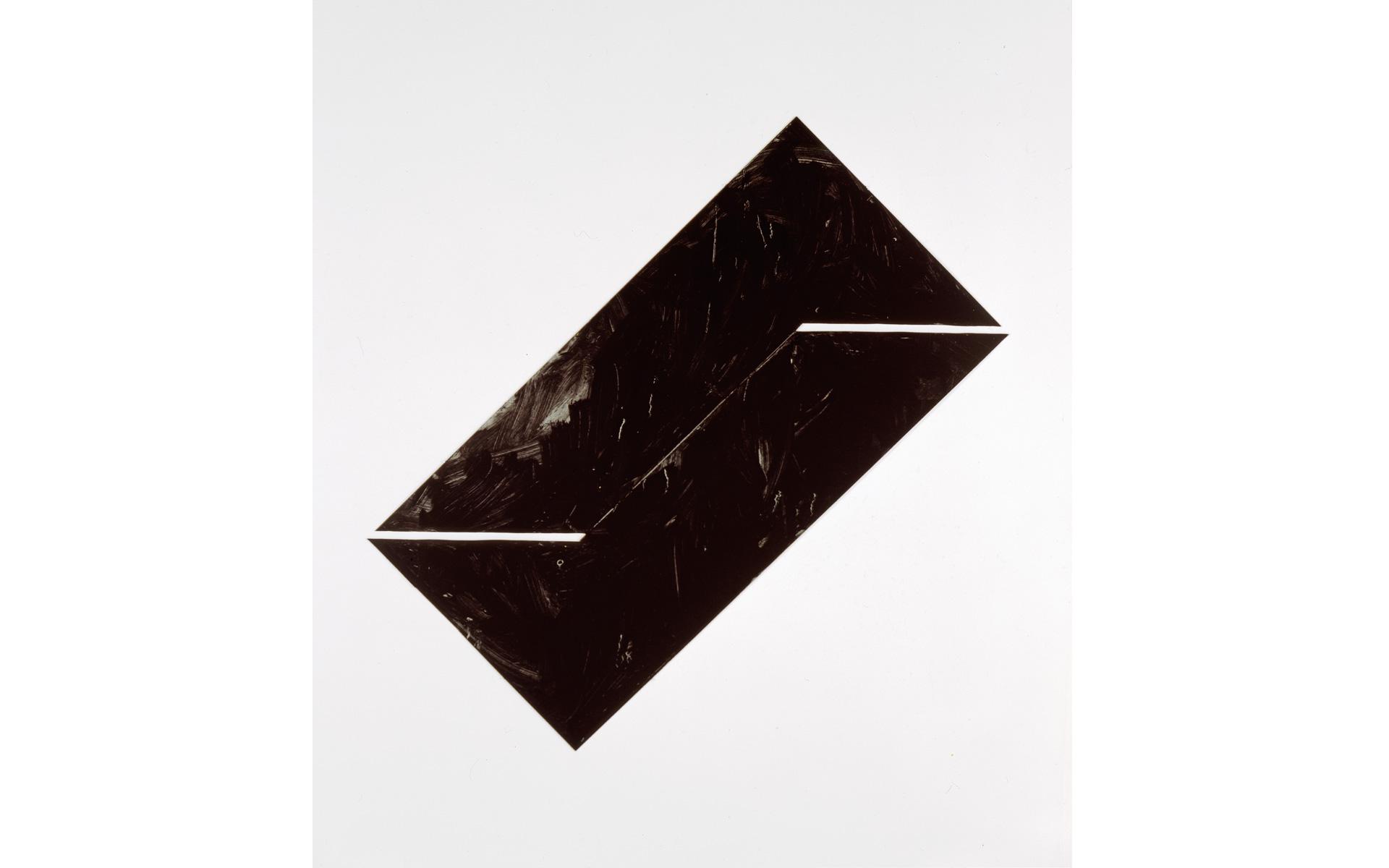 Schnitt, 1987 Oil on steel 90 × 90 × 0.1 cm - Photo: Christoph Valentien