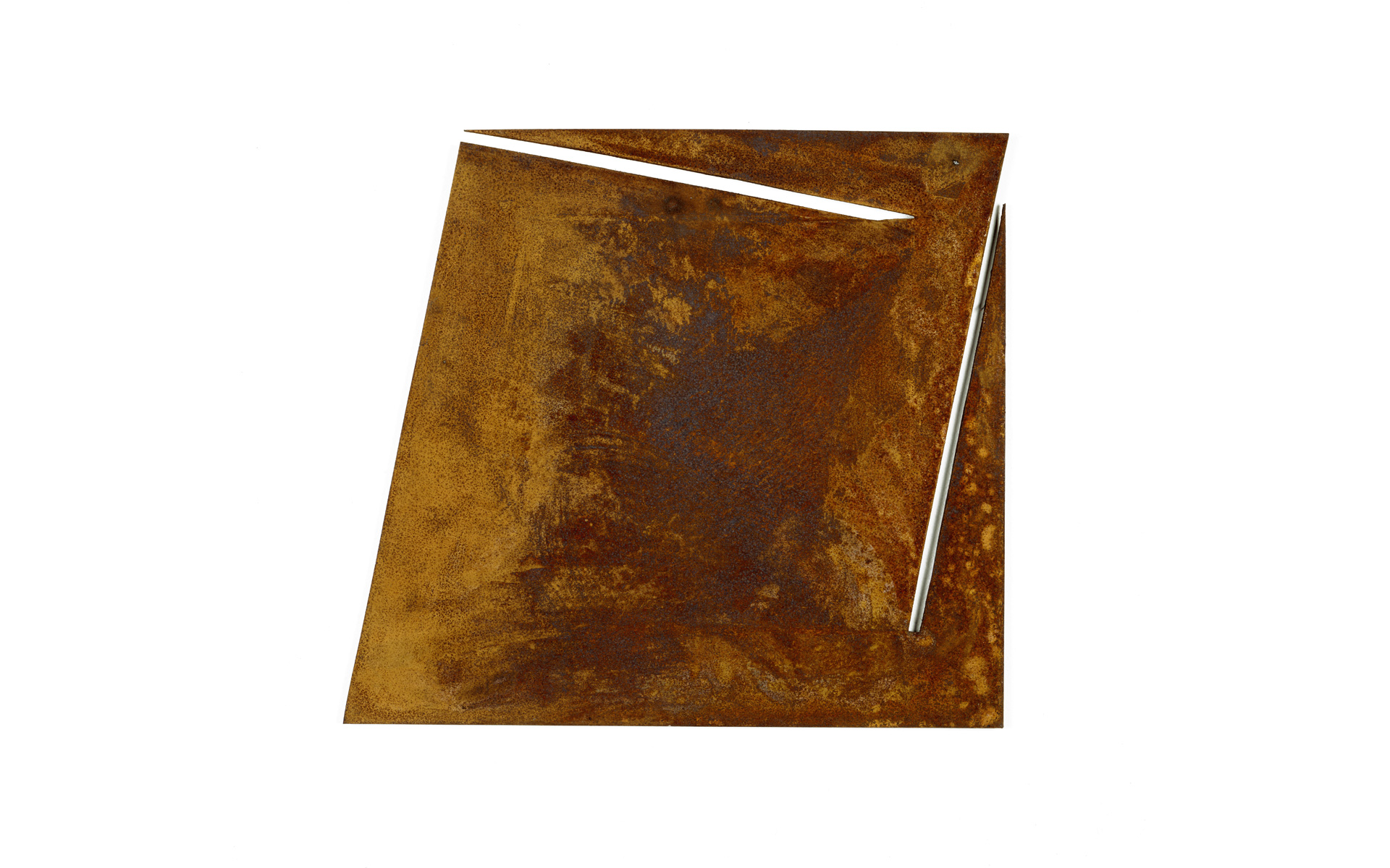 O. T., 1988 Steel rusted 43 × 47.2 × 0.5 cm - Photo: Christoph Valentien